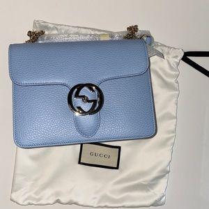 Gucci Blue interlocking Crossbody Bag